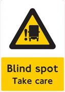 "DBG FORS Approved ""Blind Spot Take Care"" Warning Sign (Self Adhesive)"
