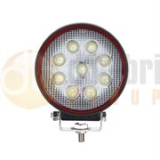 LED Autolamps Red Line Round 9-LED 1930lm Work Flood Light 12/24V - RL10827BM