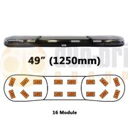 ECCO/Britax A13750.240.DV A13 Series 1250mm AMBER/CLEAR 16 Module LED Lightbar R65 12/24V