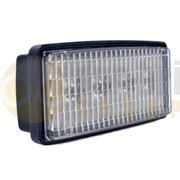 LED Global LG840 Rectangular 1400lm 4-LED Cab Work Light Fly Lead 12/24V