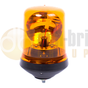 ECCO 509.002W 500 Series Flexible Single Bolt AMBER Bulb ROTATOR Beacon with Superseal R65 24V