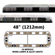 ECCO 12+ Series Vantage R65 LED 16 Module, WL, AL Lightbar (1212mm) - Amber