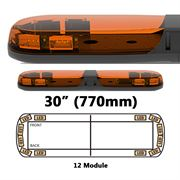ECCO 13 Series R65 LED 12 Module Lightbar (770mm) - Amber/Amber