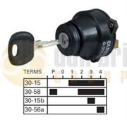 Durite 0-351-12 6 Position (SIDE/OFF/IGNITION/SIDE/DIP/MAIN BEAM) Ø26mm Ignition Switch with Key