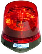 ECCO 400 Series Rotator Single Bolt Conical Beacon - Red (24V)