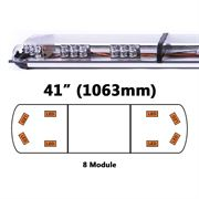 ECCO 65-00002-V 65 Series 1063mm AMBER/CLEAR 8 Module LED Lightbar with Opaque Centre R65 12/24V
