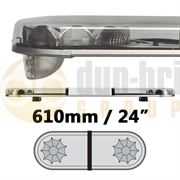 LAP Electrical LB242AC/MAG CLASSIC TITAN 610mm AMBER/CLEAR Magnetic Mount 2 Module LED Lightbar R65 12/24V