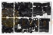 Assorted Black Nylon P-Clips