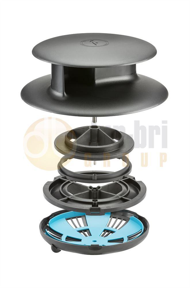 Flettner Tcx 2 Ventilator Narrow Base Black Dun Bri
