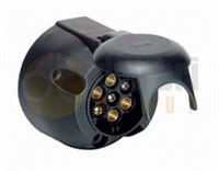 12v 7 Pin 'N' Type Plastic Socket
