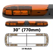ECCO 13 Series R65 LED 16 Module Lightbar (770mm) - Amber/Amber