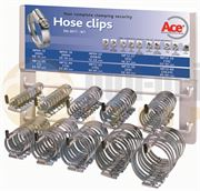ACE® Zinc Plated Steel Hose Clips Dispenser Rack - 400.0182