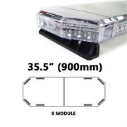 Redtronic FX1105AC Low-Profile LPFX 900mm AMBER/CLEAR 8 Module LED Lightbar R65 12/24V