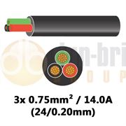 DBG 3 Core Thinwall PVC Automotive Cable 3x 24/0.20 0.75mm² 14.0A - 30m - 540.4301HT/30B