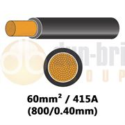DBG PVC Flexible Battery/Starter Cable 800/0.40 60mm² 415A - BLACK - 10m - 540.4935F/10B