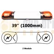 Britax A6 Series Xenon 2 Module Lightbar with Illuminated Centre (1000mm) - Amber - A6342.200.LDV