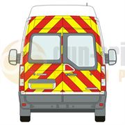 Renault Master (2010 - Present) - BACK - Full Chevron Kit (Window Cut-Outs) - High Roof