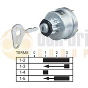 Durite 0-351-04 4 Position (OFF/IGNITION/PRE-HEAT/HEAT START) Ø16mm Ignition Switch with Key