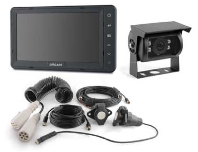 "Brigade VBV-770-001 Backeye® Select Single Camera 7"" Monitor System for Articulated Vehicles"