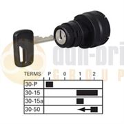 Durite 0-351-03 4 Position (PARK/OFF/IGNITION/START) Ø19mm Ignition Switch with Key