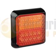 LED Autolamps 100 Series (100mm) Square LED REAR COMBINATION Light Black Bezel Fly Lead 12/24V - 100BSTIME