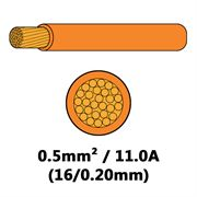 DBG Single Core Thin Wall PVC Auto Cable 0.5mm² (11.0A) - Orange