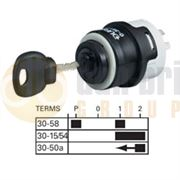 Durite 0-351-51 4 Position (ACCESSORY/OFF/ACCESSORY & IGNITION/START) Ø26mm Ignition Switch with Key