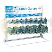ACE® Zinc Plated Steel T-Bolt Clamps Dispenser Rack - 400.0187