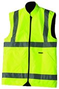 DBG Reflective Reversible Hi-Vis Body Warmer Yellow - Extra Large - 800.895872