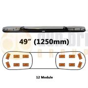 ECCO/Britax A13752.140.LDV A13 Series 1250mm AMBER/CLEAR 12 Module LED Lightbar 12/24V