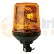 LAP Electrical LAP270A DIN Pole Mount AMBER Bulb ROTATOR Beacon R65 12/24V