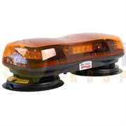 Britax A490 Series R65 LED Magnetic Mount Mini Lightbar - Amber/Amber