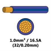 DBG Single Core Thin Wall PVC Auto Cable 1.0mm² (16.5A) - Purple/Blue