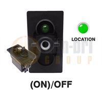 Carling 273.216 V-SERIES Rocker Switch Base 24V (ON)/OFF SP 1xLED GREEN