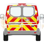 Ford Transit Connect (2014 - Present) - BACK - Full Chevron Kit (Window Cut-Outs) - Low Roof