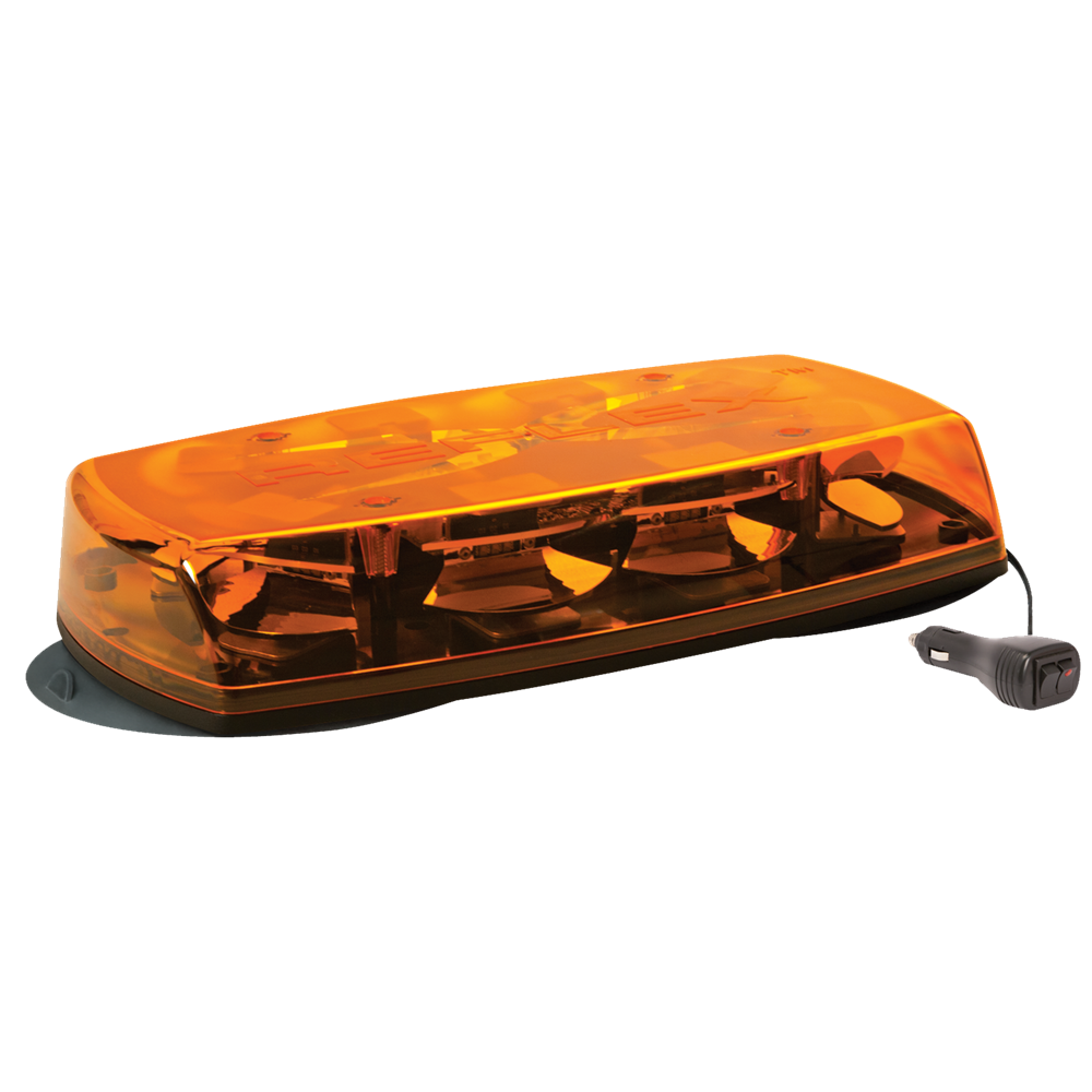 ECCO 5565A-VAMAG Reflex 5565 Series R65 LED Magnetic Mount Minibar (381mm) - Amber