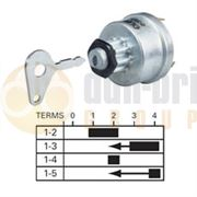 Durite 0-351-08 5 Position (OFF/ACCESSORY/IGNITION/PRE-HEAT/HEAT START) Ø19mm Ignition Switch with Key